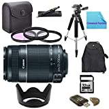 Deluxe Shooters Package for Canon EOS 6D: Includes Canon EF-S 55-250mm f/4.0-5.6 IS II Telephoto Zoom Lens, 1x Hard Tulip Lens Hood, 1x 72'' Professional Tripod, 1x Deluxe Back Pack, 1x Ultra High Speed 32GB SDHC Memory Card, 1x USB SD Card Reader, 1x 3 Pi
