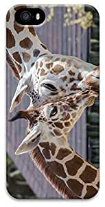 Rosesea Custom Personalized Animal Giraffe Case for iPhone 5 5s 3D PC Material