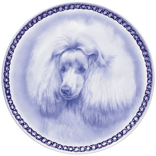 Poodle - Toy Lekven Design Dog Plate 19.5 cm /7.61 inches Made in Denmark NEW with certificate of origin PLATE #7524 by Lekven
