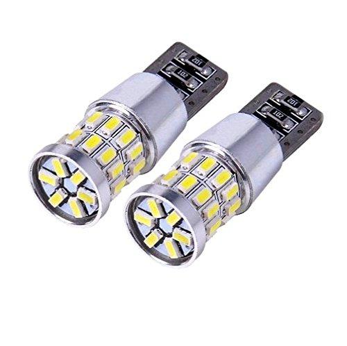 2x LAMPEN MIT 30-chip 8000K 12V XENON WEISS WHITE 3014 CANBUS 2 Stü ck T-zehn -Sockel W-fü nf-W Lampen fü r Innen- Kennzeichen- Einstiegs- Kofferraum- Fussraumbeleuchtung Standlicht Positionslicht Jurmann-Trade®