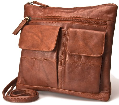 Visconti Shoulder Brown Atlantic Leather Cross Body Women 18608A Bag for Small Bag Everyday r7rFqT5