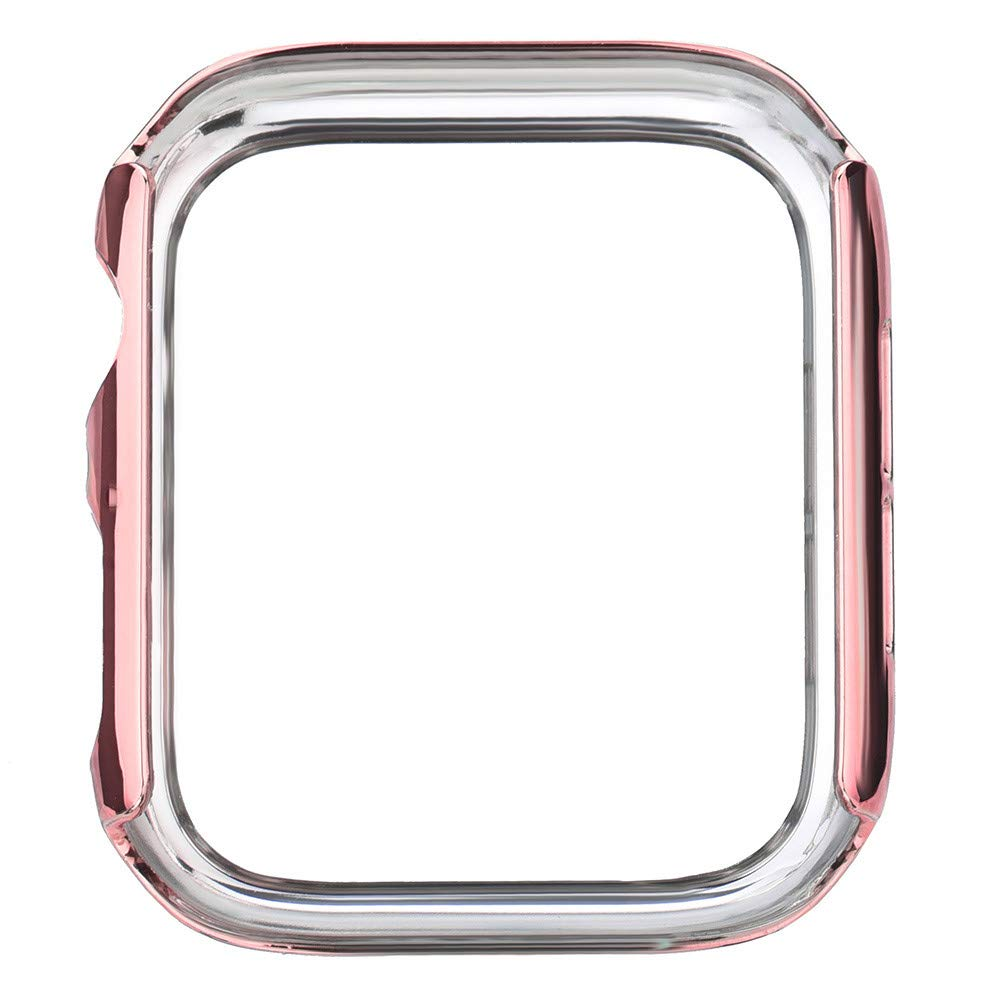 Sayingning Screen Case for Apple Watch, Ultra Thin PC Plating Cases Protective Bumper Cover for Apple Watch 4 44mm to Keep Your Watch Stronger (Rose Gold)