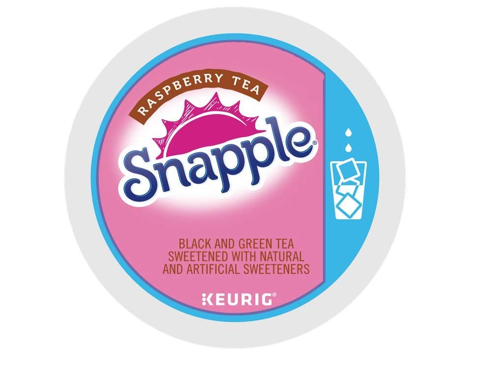 B00CXAEVCI Snapple Raspberry Iced Tea single serve K-Cup pods for Keurig brewers, 88 Count 51yHVlGlbDL._SL1000_