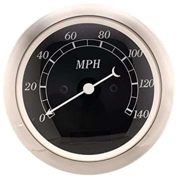 MOTOR METER RACING 85mm Electrical Speedometer (White Face & Convex Glass Lens & Black Needle) I GAUGE TECHNOLOGY CO. LTD
