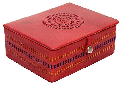 SouvNear Genuine Leather Jewelry Box Case Handmade Decorativ