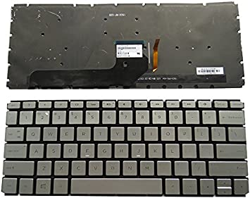 Laptop Keyboard Compatible for HP Envy 13-D 13-D010NR 13-D040NR 13-D040WM 13-d007nf 13-d010ca 13-d020nr US Silver Backlit Light Backlight No Frame