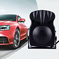 Denshine Car Heater Car Defroster Demister 30 Seconds Fast Heating Space Heaters 12V 2 in 1 Auto Ceramic Heater Cooling Fan 3-Outlet Plug Defrost the Windows (Black)