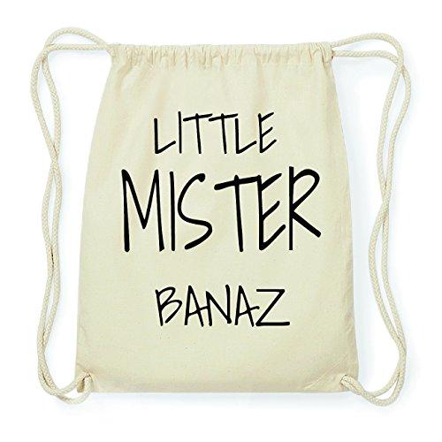 JOllify BANAZ Hipster Turnbeutel Tasche Rucksack aus Baumwolle - Farbe: natur Design: Little Mister 8sVedgpM
