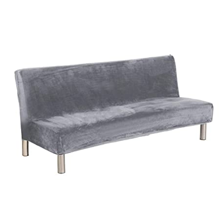 HUVE sofá sin Brazos Estirar sofá Cama Protector de slipcover ...