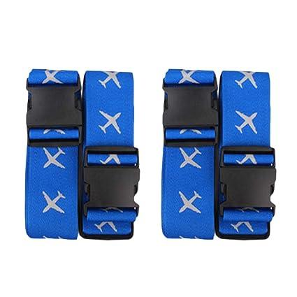 a49b2ad09574 Amazon.com: VORCOOL 2pcs Adjustable Cross Travel Luggage Strap ...