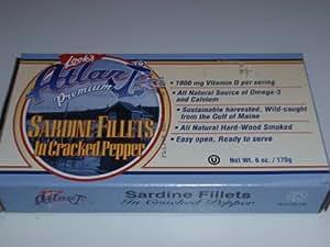 Atlantic Premium Sardine Fillets in Cracked Pepper, 6oz, Pack of 2