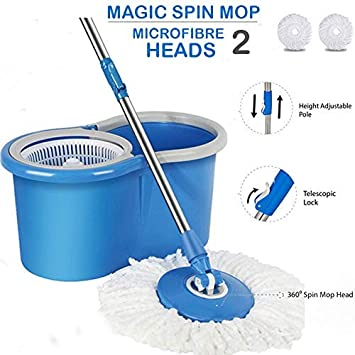 Shreeji Ethnic Magic Spin Mop with Bucket