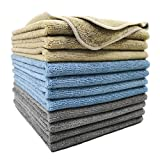 Polyte Professional Microfiber Cleaning Towel, 16 x 16 in, 12 Pack