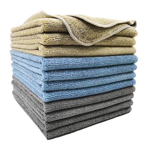 Polyte Microfiber Cleaning Towel (16x16, 12 Pack Professional, - Microfiber Standard 12 Cloths