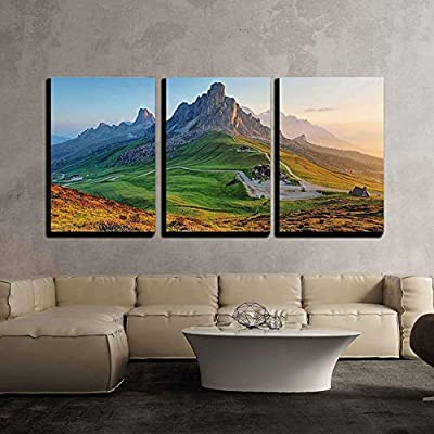 Charming Composition, Dolomites Landscape x3 Panels, Created Just For You