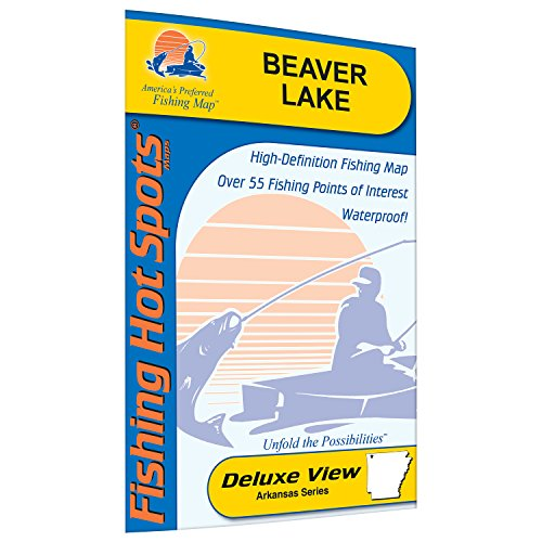 Beaver Lake Fishing Map