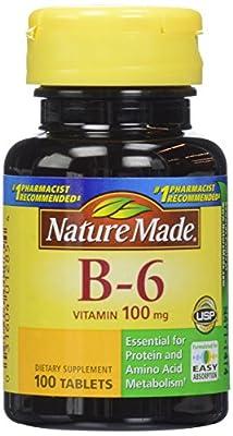 Nature Made Vitamin B-6 100 mg, 100 ct
