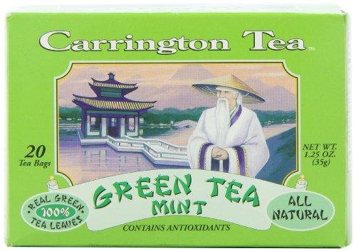 Carrington Green Tea, Mint, 20 Tea Bags (Pack of 6) - Carrington Green Tea Tea