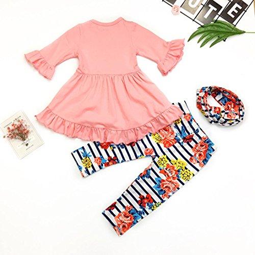 eb5b168b0 WensLTD Clearance! 3PC Toddler Baby Girls Cute Floral Shirt Dress + ...