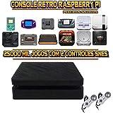 Console Retrô PS4 Slim RetroPie + 25.000 Jogos 2 Controles SNES