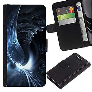 Planetar® Modelo colorido cuero carpeta tirón caso cubierta piel Holster Funda protección Para Sony Xperia Z1 Compact / Z1 Mini / D5503 ( Abstract Swirl )
