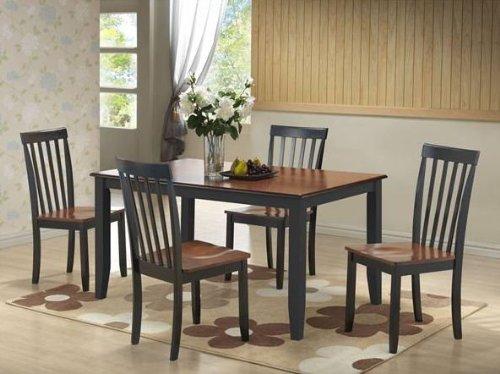 Amazon.com   Boraam 22034 Bloomington 6 Piece Dining Room Set, White/Honey  Oak   Table U0026 Chair Sets