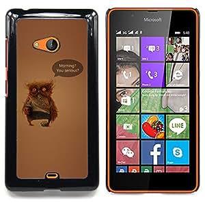SKCASE Center / Funda Carcasa protectora - Serious Owl;;;;;;;; - Nokia Lumia 540