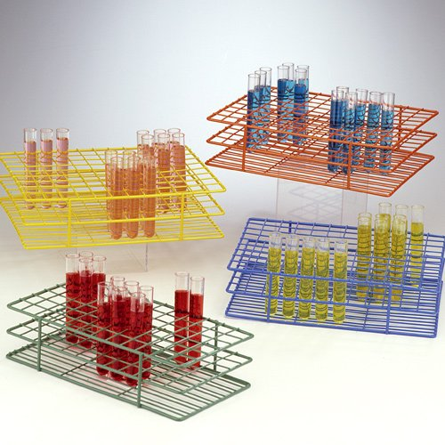 Bel-Art F18757-0000 Poxygrid Test Tube Rack; 13-16mm, 72 Places, 9¹/₂ x 5¹/₈ x 2¹/₂ in., Green (Test Tube Rack 13mm)