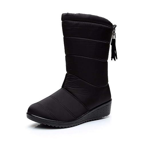 Inverno Stivali Donna Impermeabile Caviglia Neve Caldo Pelliccia Scarpe  Ragazze Stivali per Outdoor Sport Amazon.it Scarpe e borse ... f840b495321