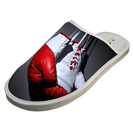 KSZ Zapatillas de casa diseño de Unicornio Rosa y Arco Iris, Sandalias Originales para Interiores