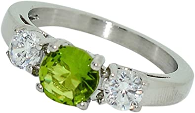 AMDXD Jewelry Gold Plated Wedding Rings for Women 4 Prong CZ with X Line