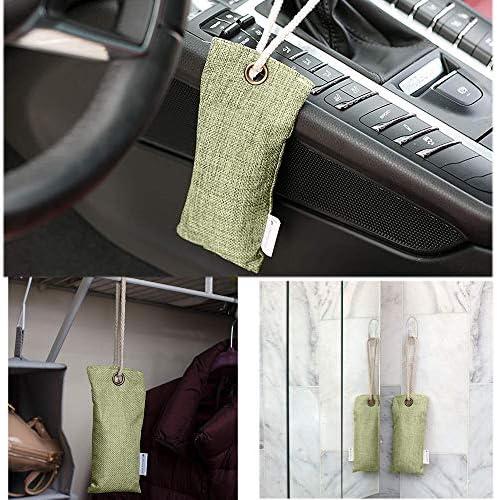 Bambus Lufterfrischer Aktivkohle Queta 4 Stück Natürliche Aktivkohle Luftreiniger Raumerfrischer Für Auto Bad Garderobe Küche Küchenschränke Schuh Deodorator 75g Jeder Baumarkt