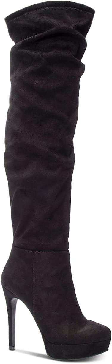 Chinese Laundry Womens z Lorie Almond Toe Over Knee Fashion Boots