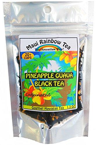 Pineapple Guava Black Tea 20-cup package • Gourmet Hawaiian loose leaf tea by Maui Rainbow Tea • For hot tea or iced tea