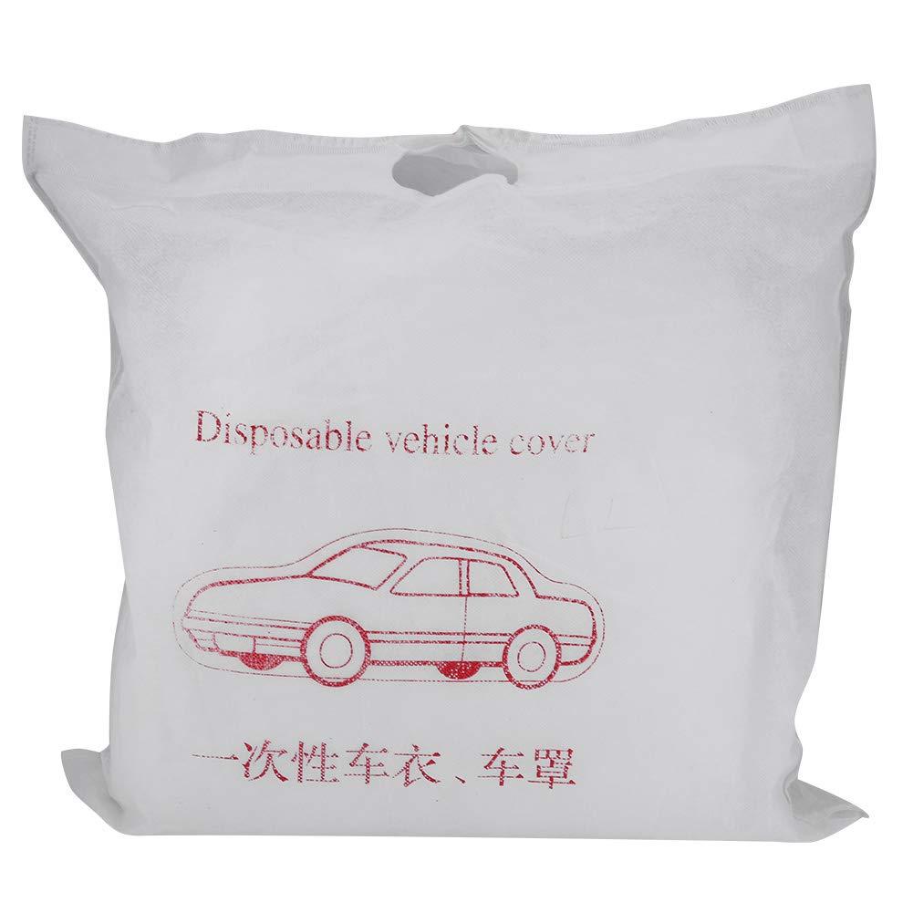 KIMISS Funda de coche completa transpirable universal, Blanco Funda al aire libre a prueba de polvo impermeable del coche de Monolayer(M)
