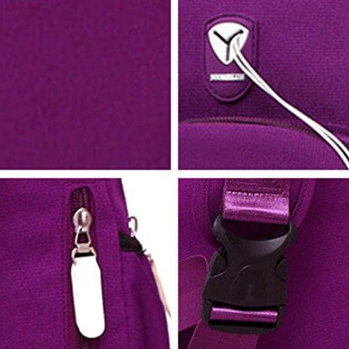 Cuddty Holder Purple Shoulder Women Bottle with Bag Crossbody Chest Water Bag Versatile 664xqr