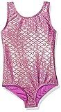 Danskin Girls' Little Gymnastics Leotard, Pink/Gold Mermaid-69172, Small