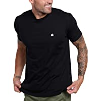 INTO THE AM Men's Crew Neck T-Shirts - Premium Fitted Modern Basic Logo Tees
