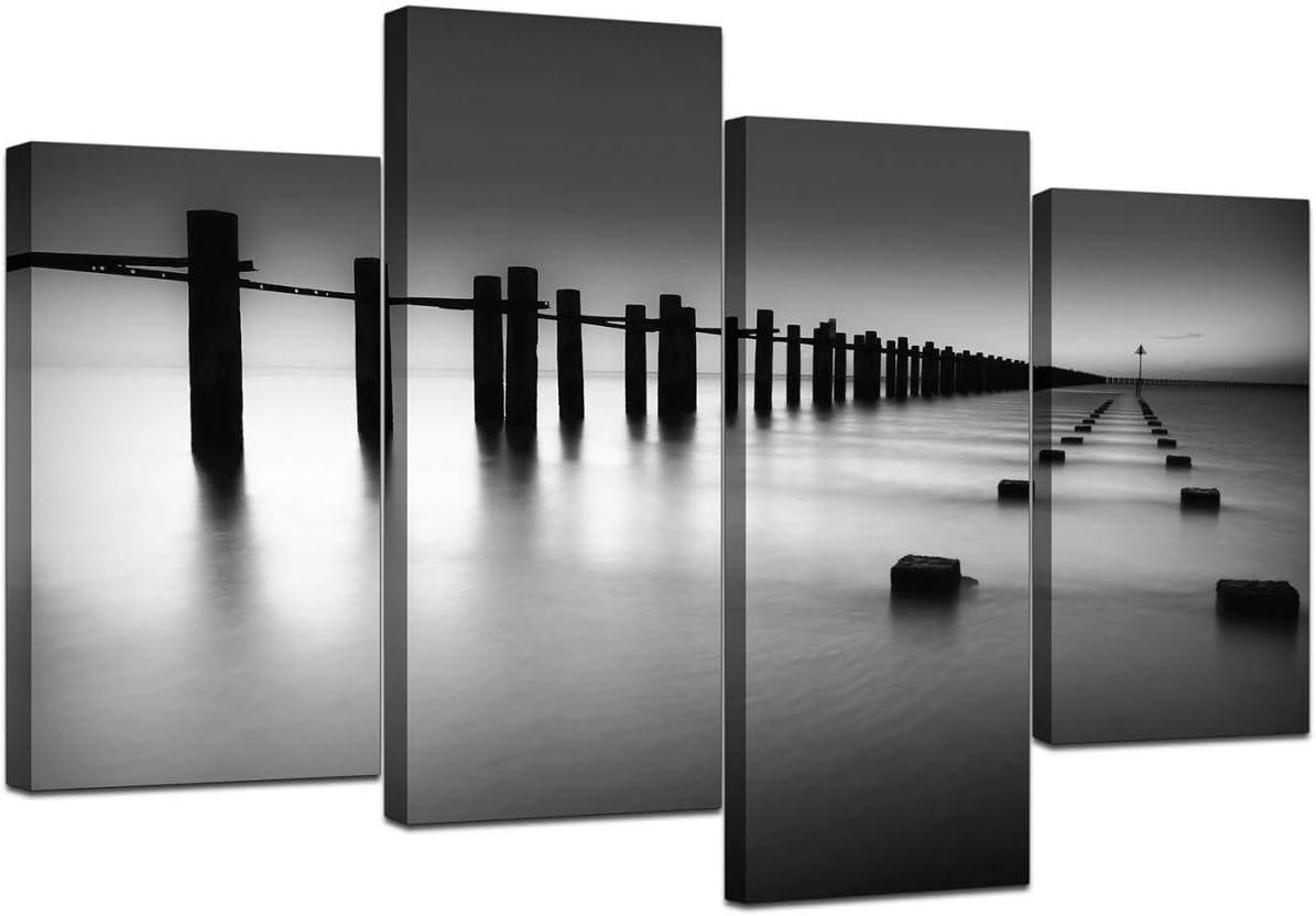 Wallfillers Cuadros en Lienzo Grande Blanco y Negro Imágenes XL 4085