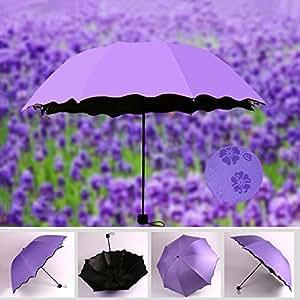 Protector solar agua Bloom 3plegable con protección UV sombrilla
