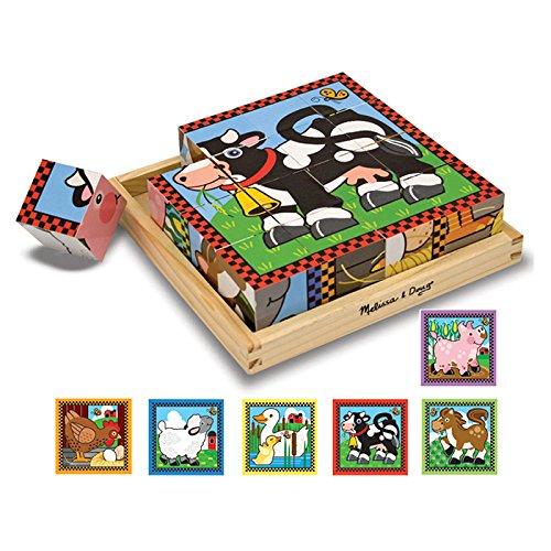 Melissa & Doug Farm Cube Puzzle (Set of 6) ()