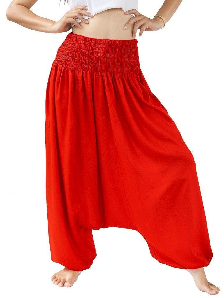 Siam Secrets Rayon Aladdin Harem Pants Maternity Romper Jumpsuit Hrm-Jmp-Bla