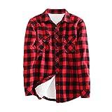 Tortor 1Bacha Women's Button Down Plaid Flannel Shirt Fleece Lined