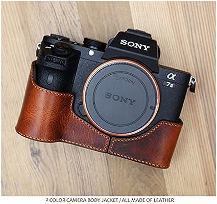 Ciesta Funda de cuero mitad funda para Sony A7II (Giano marrón ...