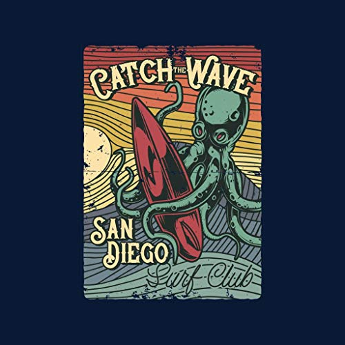 San Surf Women's Sweatshirt Blue Navy Hooded Diego Octopus Club z46Razq