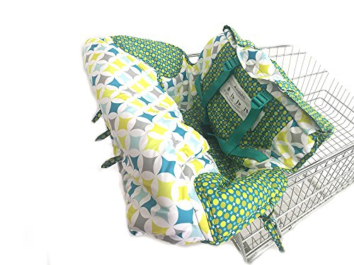 2 in 1 Shopping Cart and High Chair Cover for Baby and Toddlers - Folds into Pouch for Easy Carrying by HM Fulfillment (Image #7)