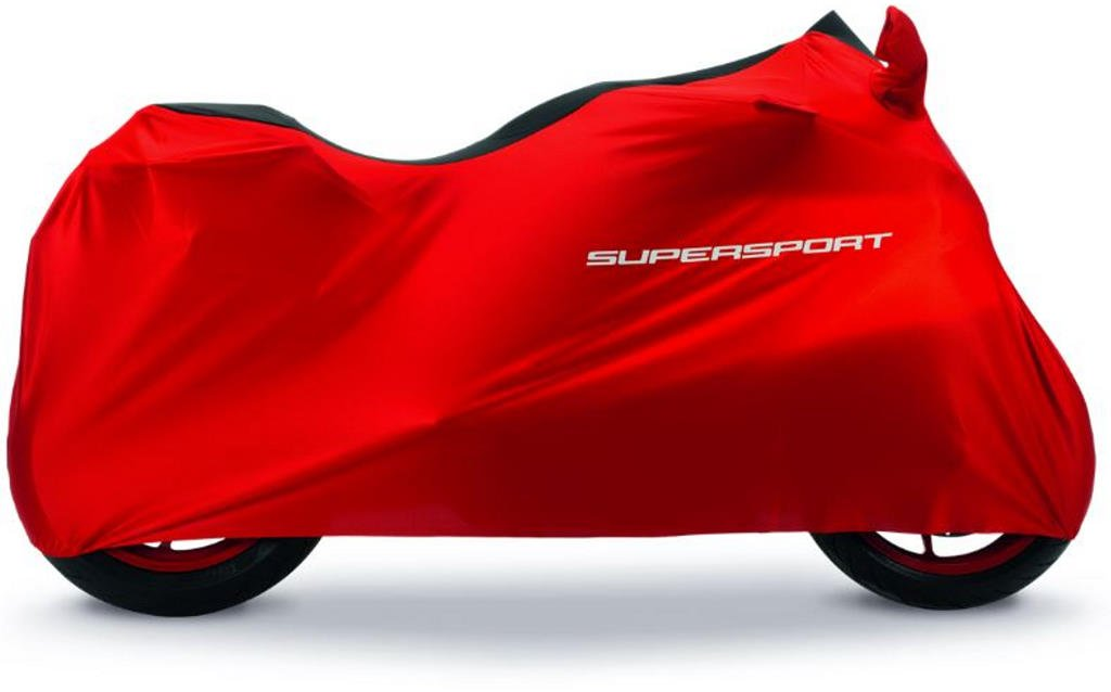 Ducati New Supersport Canvas Indoor Bike Cover Red and Black 97580071A