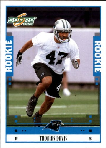2005 Score Football Rookie Card #343 Thomas Davis Near Mint/Mint