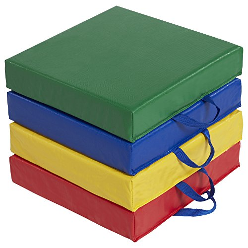 ECR4Kids Softzone Carry Me Floor Cushions for Flexible Classroom Seating, 3