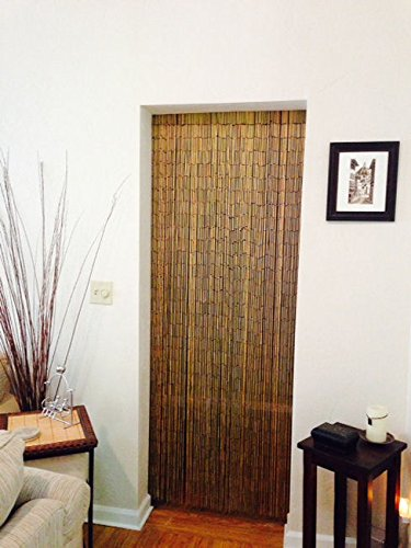 Natural Bamboo Beaded Curtain 125 Strands Hanging